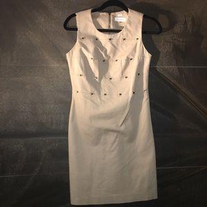 Calvin Klein Beige pencil dress size 2